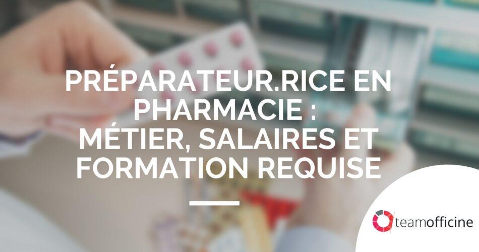 fiche métier préparateur en pharmacie