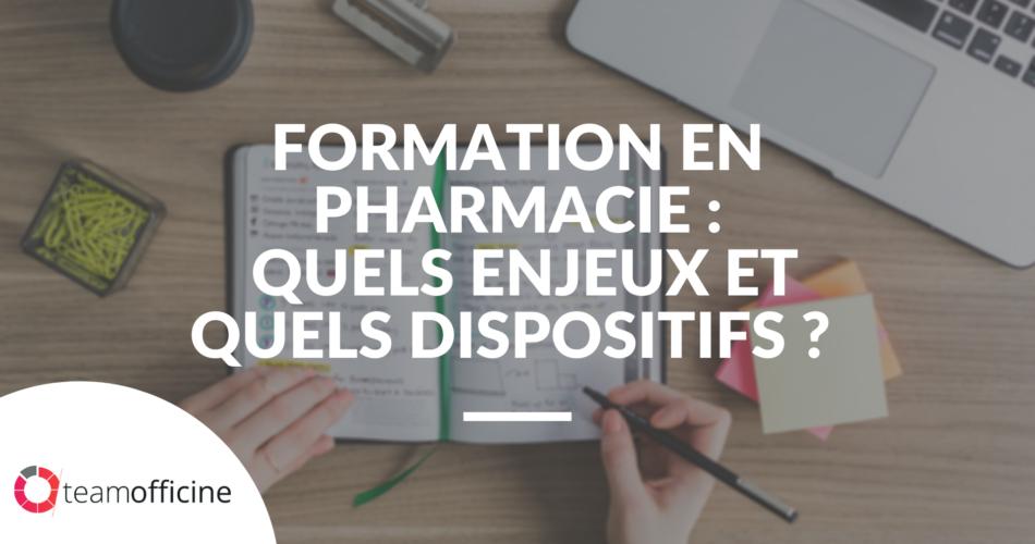 enjeux formation emploi en pharmacie